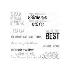 Stamping Bella - Cling Stamps - Encouragement Sentiment Set