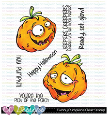 FUNNY PUMPKINS CLEAR STAMP SET - C.C. DESIGNS