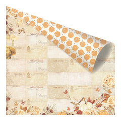"Amber Moon Foiled Double-Sided Cardstock 12""X12"" - Fall Postcards From Paris"