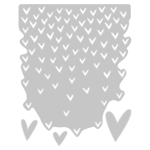 Sizzix Thinlits Dies By Tim Holtz - Falling Hearts