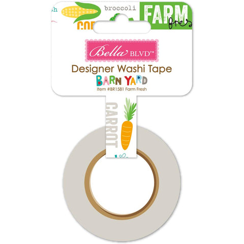 "Barnyard Washi Tape .625""X30' - Farm Fresh"