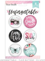 Unforgettable - Cocoa Vanilla - Flair Buttons