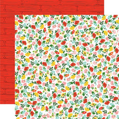 "Farm To Table - Carta Bella - Double-Sided Cardstock 12""X12"" - Floral Frenzy"