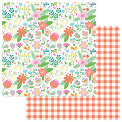 "Mad 4 Plaid Happy Double-Sided Cardstock 12""X12""- Flowers"