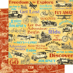 "Life's A Journey - Graphic 45 - Double-Sided Cardstock 12""X12"" - Fly Away"