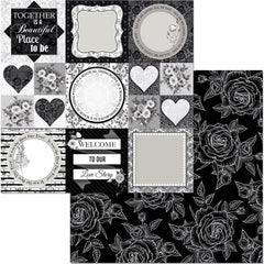 "Black Tie Affair Double-Sided Cardstock 12""X12"" - Formal"