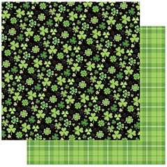 "Tulla & Norbert's Lucky Charm - PhotoPlay - Double-Sided Cardstock 12""X12"" - Four Leaf Clover"