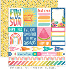 "Sunkissed - Cocoa Vanilla - 12""X12"" Patterned Paper - Fun In The Sun"