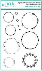 Gina K - Clear Stamp - Simply Circular