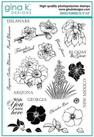 Gina K - Clear Stamp -  Stately Flowers 13