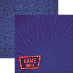 "There's No Place Like Home - Reminisce - 12""X12"" Patterned Paper - Game Night"