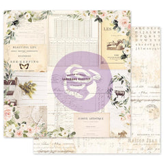 "Spring Farmhouse Foiled Double-Sided Cardstock 12""X12"" - Prima Marketing - Gather"