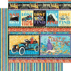 "Life's A Journey - Graphic 45 - Double-Sided Cardstock 12""X12"" - Get Lost"