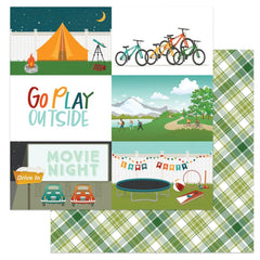 "Cabin Fever - Photo Play - Double-Sided Cardstock 12""X12"" - Go Play Outside"