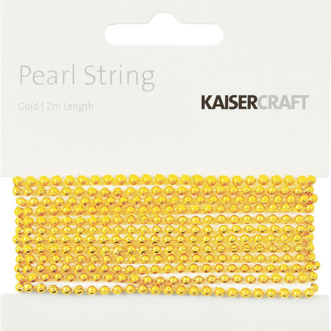 Kaisercraft Pearl String 2m - Gold