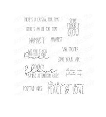 Stamping Bella - Cling Stamps - Good Vibes Sentiment Set