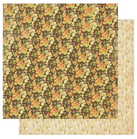 "Gracious - Authentique - Double-Sided Cardstock 12""X12"" - #1 Squash, Gourds & Pumpkins"