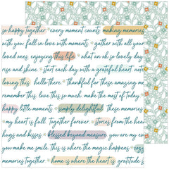 "Days of Splendor - PinkFresh - Double-Sided Cardstock 12""X12"" - Grateful Heart"