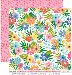 "Sunkissed - Cocoa Vanilla - 12""X12"" Patterned Paper - Growing Wild"