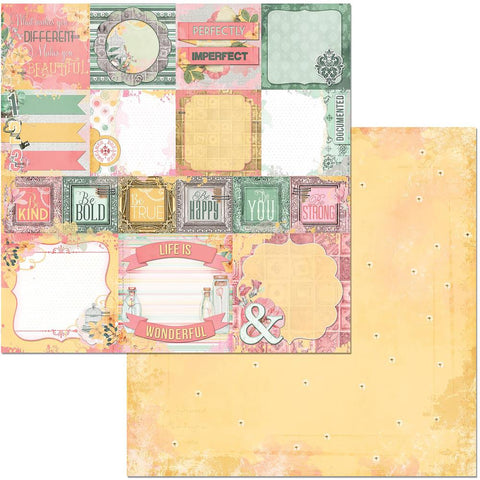 "Sunshine Bliss Double-Sided Cardstock 12""X12"" - Happiness"