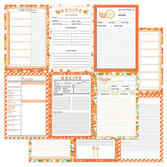 "PhotoPlay - Double-Sided Cardstock 12""X12"" - Recipe Cards - Happy Fruit -Orange"