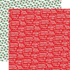 "Dear Santa - Carta Bella - Double-Sided Cardstock 12""X12"" - Happy Holidays"