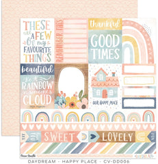 "Daydream - Cocoa Vanilla - 12""X12"" Patterned Paper - Happy Place"