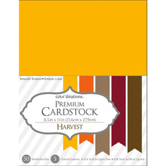 "Darice Value Pack Smooth Cardstock 8.5""X11"" 50/Pkg - Harvest Assortment"