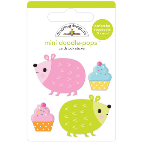 Hey Cupcake - Doodlebug - Doodle-Pops 3D Stickers - Hedge Hugs