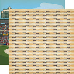 "Baseball - Carta Bella - Double-Sided Cardstock 12""X12"" - Hey Batter Batter"