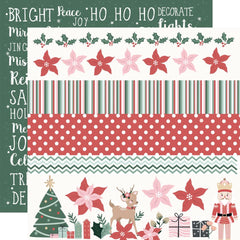 "Peppermint Kisses - Kaisercraft - Double-Sided Cardstock 12""X12"" - Ho Ho Ho"