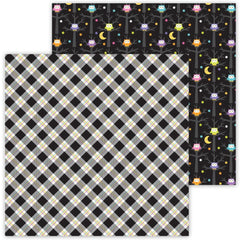 "Ghost Town - Doodlebug - Double-Sided Cardstock 12""X12"" - Hocus Pocus Plaid"