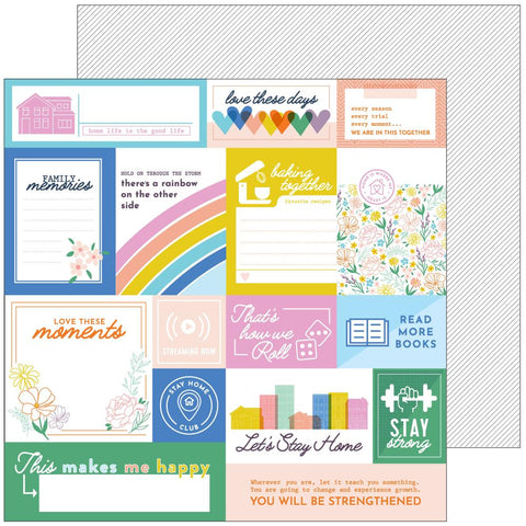 "Let's Stay Home - Pinkfresh Studios - Double-Sided Cardstock 12""X12"" - Hold On"