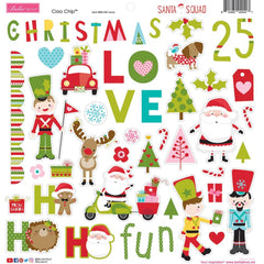 "Santa Squad - Bella Blvd - Chipboard Stickers 12""X12"" - Icons"