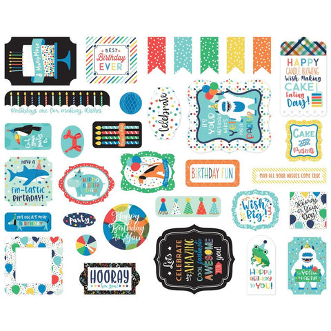 It's Your Birthday (Boy) - Echo Park Cardstock Ephemera 33/Pkg - Icons