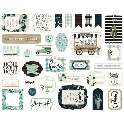 Home Again - Carta Bella - Cardstock Ephemera 33/Pkg - Icons