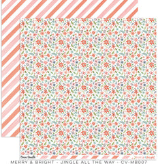 "Merry & Bright - Cocoa Vanilla - 12""X12"" Patterned Paper - Jingle All The Way"