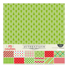 "Jolly Christmas - Authentique Collection Kit 12""X12"""