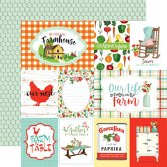 "Farm To Table - Carta Bella - Double-Sided Cardstock 12""X12"" - Journaling Cards"