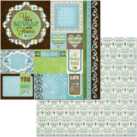 "Penelope Double-Sided Cardstock 12""X12"" - Journey"