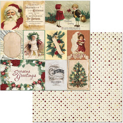 "Yuletide Carol Double-Sided Cardstock 12""X12"" - Kris Kringle"