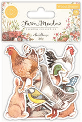 Farm Meadow - Craft Consortium - Laser Cut Printed Wood Shapes - Animals