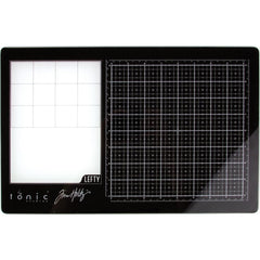 "Tim Holtz Travel Glass Media Mat 10.25""X15.5"" - Left-Handed"
