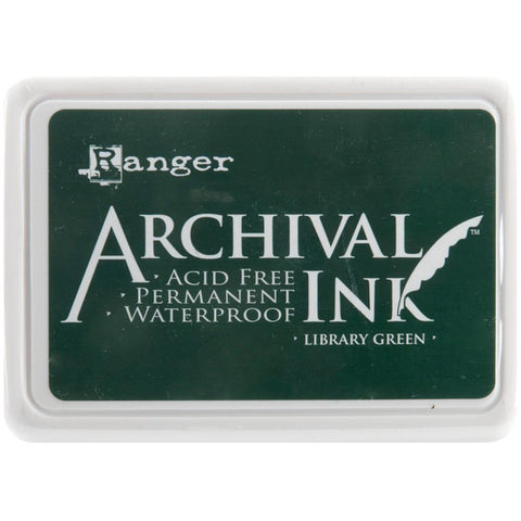 Ranger Archival Ink Pad #0 - Library Green