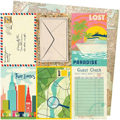 "Let's Wander - Vicki Boutin - Double-Sided Cardstock 12""X12"" - Lost In Paradise"
