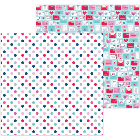 "French Kiss - Double-Sided Cardstock 12""X12"" - Love You Dots"