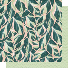 "Willow - One Canoe Two - Double-Sided Cardstock 12""X12"" - Lush"