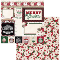 "Joyful Christmas - BoBunny - Double-Sided Cardstock 12""X12"" -  Merry"