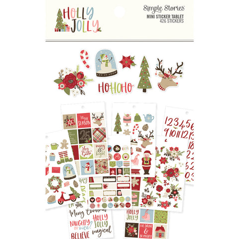 Holly Jolly - Simple Stories - Mini Sticker Tablet