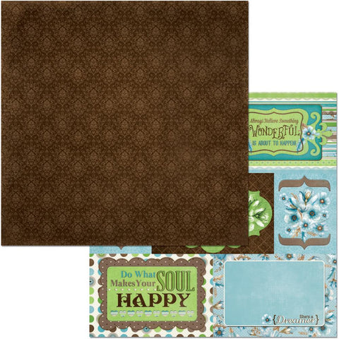 "Penelope Double-Sided Cardstock 12""X12"" - Moments"